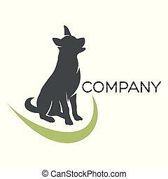 schafhirte, hund, logo
