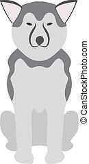 schafhirte, illustration., einheimischer hund, vektor, tier,...