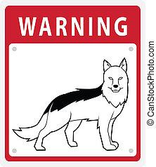schafhirte, warnung, hund, zeichen