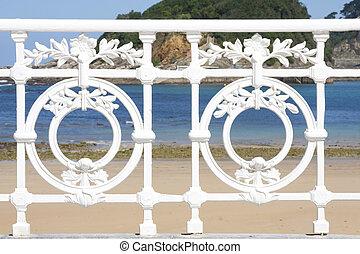 schale strand, in, san sebastian, baske, land, spanien