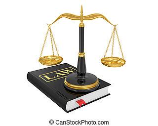 schalen, op, een, wet boek