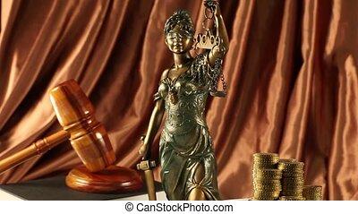 schalen van gerechtigheid, en, wet