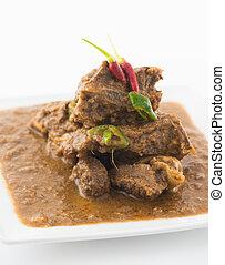 schapenvlees, korma, kerrie, indisch voedsel