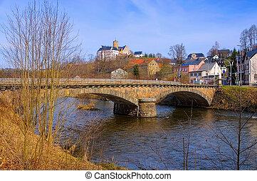 Scharfenstein castle in Ore Mountains, Saxony in Germany