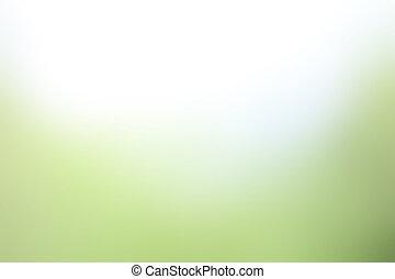 schatten, bunte, steigung, licht, verwischt, grüner hintergrund, weich