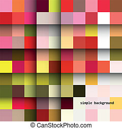 schatten, einfache , quadrate, färbte hintergrund