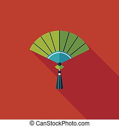 schatten, foldi, eps10, neu , ikone, chinesisches , langer, jahr, wohnung
