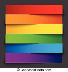 schatten, regenbogen, grau, dunkel, papier, streifen, hintergrund, infographics, banner