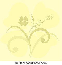 schattig, bloemen, achtergrond