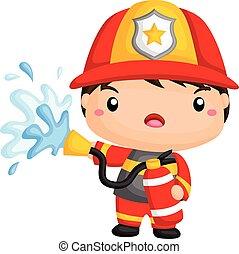 schattig, brandweerman