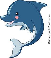 schattig, dolfijn