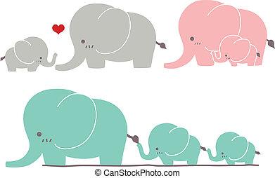 schattig, elefant