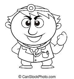 schattig, geschetste, arts