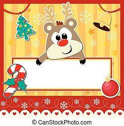 schattig, kerstmis kaart