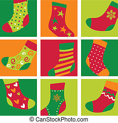 schattig, kerstmis stockings