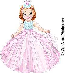 schattig, kleine prinses