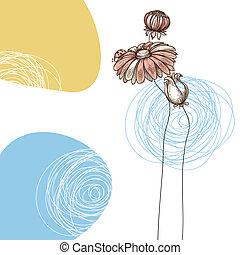 schattig, lieveheersbeest, douche, groet, floral, baby, bloemen, of, kaart