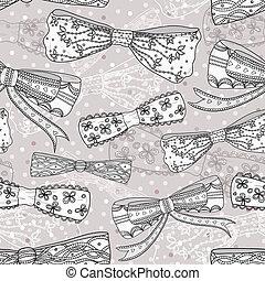 schattig, pattern., seamless, boog