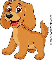 schattig, puppy, spotprent