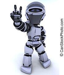 schattig, robot, cyborg