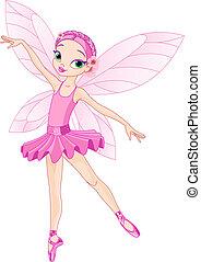 schattig, roze, elfje