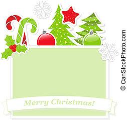 schattig, spandoek, kerstmis