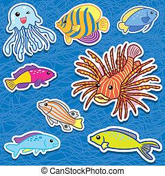 schattig, stickers9, zee dier