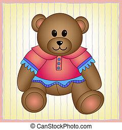 schattig, teddy, vector