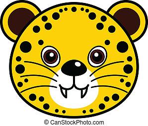 schattig, vector, cheetah
