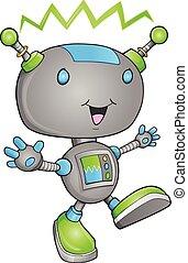 schattig, vector, robot