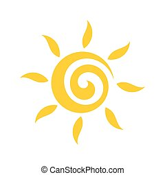 schattig, vector, sun., illustratie