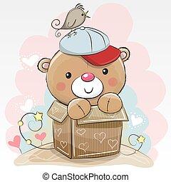 schattig, verjaardag kaart, teddy