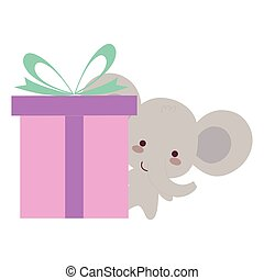 schattig, weinig; niet zo(veel), cadeau, elefant