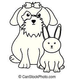 schattig, weinig; niet zo(veel), dog, konijn