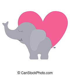 schattig, weinig; niet zo(veel), elefant, hart