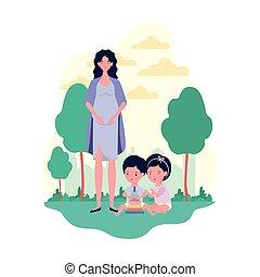 schattig, weinig; niet zo(veel), geitjes, kamp, moeder, zwangerschap