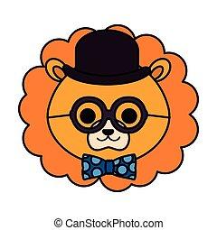 schattig, weinig; niet zo(veel), karakter, leeuw