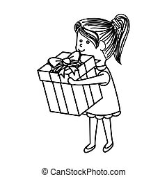 schattig, weinig; niet zo(veel), karakter, meisje, cadeau