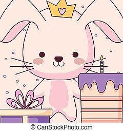 schattig, weinig; niet zo(veel), konijn, cadeau