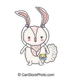 schattig, weinig; niet zo(veel), konijn, walkman