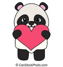 schattig, weinig; niet zo(veel), liefdehart, beer, panda
