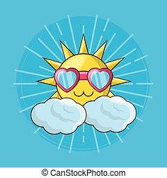 schattig, zon, ontwerp