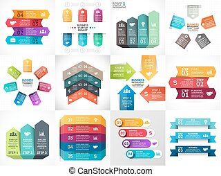 schaubild, diagramm- darstellung, timeline, infographic, pfeile, diagramm, vektor