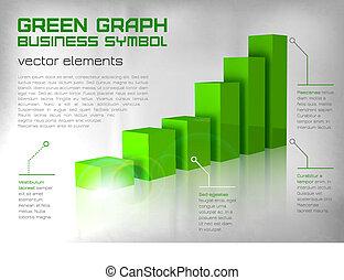 schaubild, grün