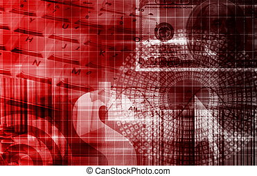 schaubild, technologie, finanz, tabellenkalkulation
