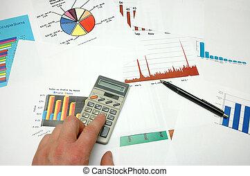 schaubilder, und, statistik