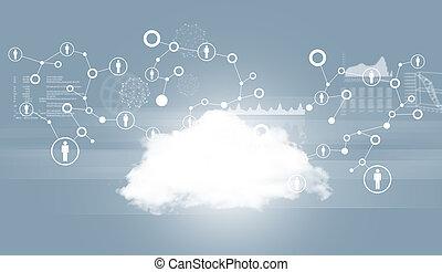 schaubilder, vernetzung, wolke