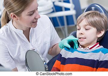 schauen, eigentlich, dentition