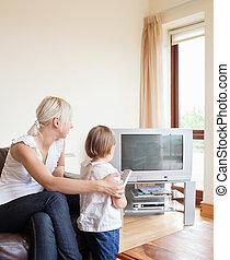 schauen, fernsehen, familie