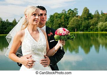 schauen, paar, zukunft, wedding